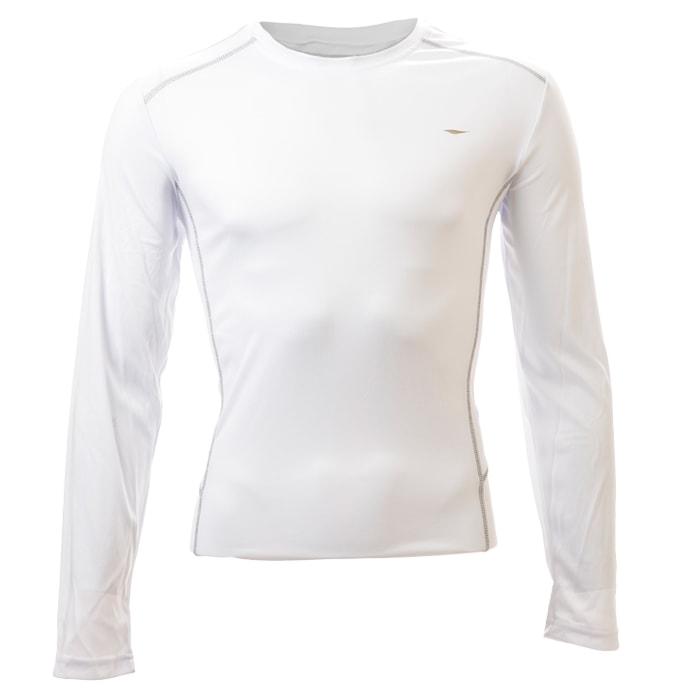 חולצת דרייפיט ארוכה בצבע לבן