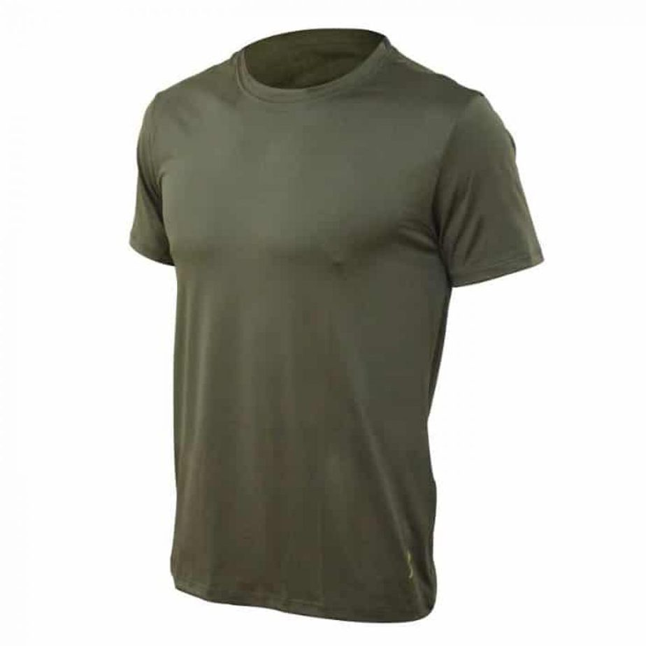 חולצת דרייפיט קצרה בצבע ירוק