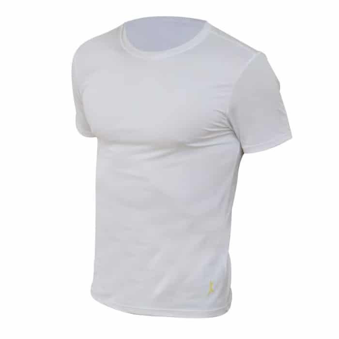 חולצת דרייפיט קצרה בצבע לבן