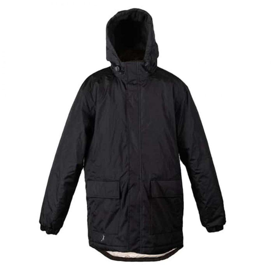 מעיל פוך Rivalבצבע שחור מהצד הקדמי