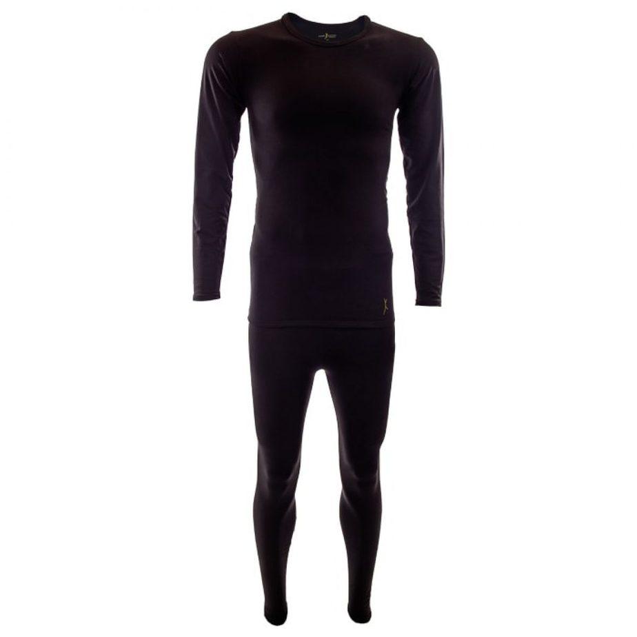 סט חולצה ומכנס טרמיLevel 2בצבע שחור