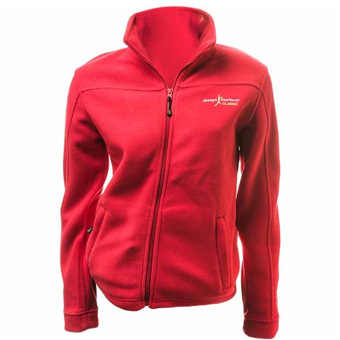מעיל פליז לנשים Classic Women בצבע אדום