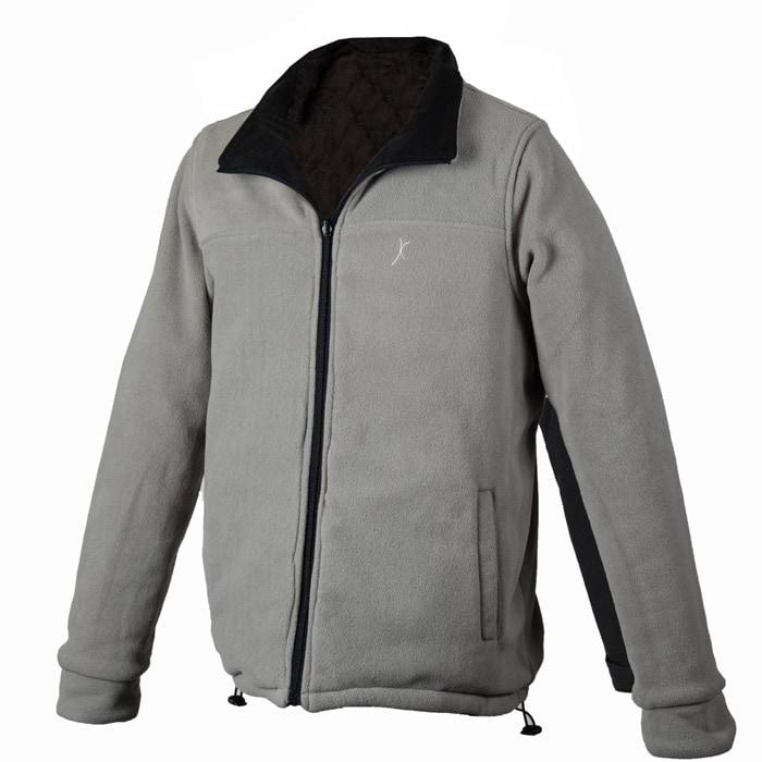 מעיל פליז דו צדדי Pro-X 2019 בצבע שחור אפור