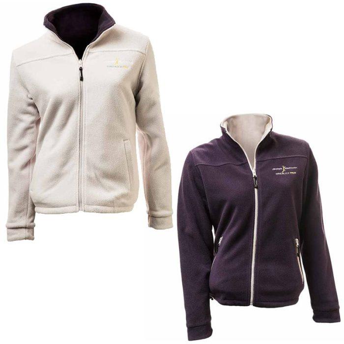 מעיל פליז דו צדדי לנשים Pro-X Women בצבע סגול-לילך