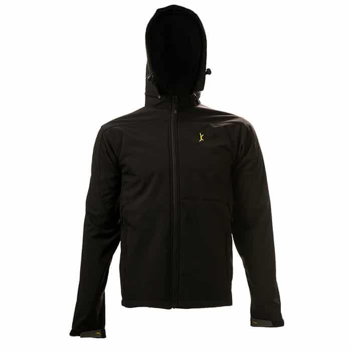 מעיל סופטשל שחור עם כובע Avalanche Pro