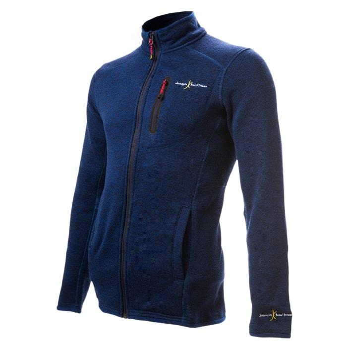 מעיל פליז סרוג Forestבצבע כחול
